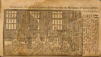 image: Representation of a County Convention from Bickerstaff's Boston Almanack for 1787