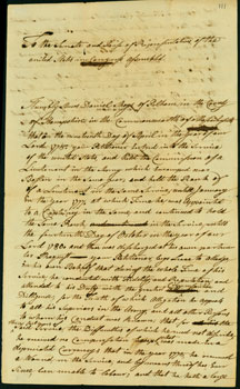 image: Daniel Shays' request for a continental army pension